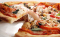 Pizza seafood Royalty Free Stock Image