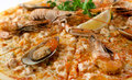 Pizza with seafood caviar crab and lemon Stock Images