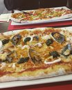 Pizza with seafood and vegetable pizza