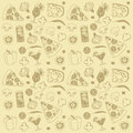 Pizza seamless pattern Royalty Free Stock Photography