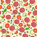 pizza seamless pattern with elements