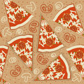 Pizza seamless pattern.Vector food background Stock Image