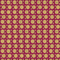 Pizza seamless pattern whole slice red Stock Photography