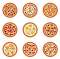 Pizza set Stock Photo