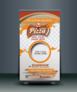 Pizza Shop Roll Up Banner Royalty Free Stock Photo