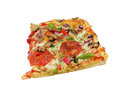 Pizza slice isolated on white background Stock Images