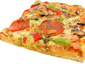 Pizza slice isolated on white background Royalty Free Stock Image