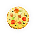 Pizza With Space For Your Text Royalty Free Stock Photo