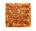 Pizza square Stock Photos