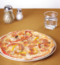 Pizza on table, Italian food Stock Photo