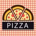 Pizza Three Piece Logo Vector