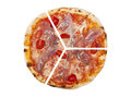 Three pieces of pizza Royalty Free Stock Photo