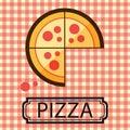 Pizza Three Quarter Logo Vector