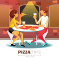 Pizza Time Illustration Royalty Free Stock Photo