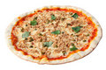 Pizza with tuna and capers Stock Photo