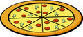 Pizza vector illustration Stock Photos