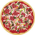 Pizza Whole Royalty Free Stock Photography