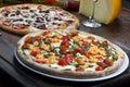 Pizzas big size Royalty Free Stock Photo