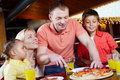 In pizzeria Stock Photography