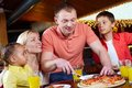 In pizzeria Stock Image