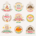 Pizzeria Colored Emblems