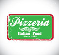 Pizzeria design over gray background vector illustration Stock Photos