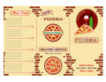 Pizzeria restaurant leaflet Royalty Free Stock Images