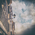 Pizzeria sign in italy image of a traditional trattoria rome some added noise Royalty Free Stock Photo