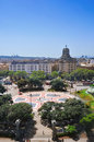 Placa Catalunya em Barcelona, Spain Foto de Stock Royalty Free