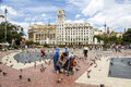 Placa de catalunya catalonia square barcelona spain june view of is a large in central that is Stock Images