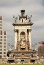 Placa de Espana, Barcelona Spanien Stockfotografie