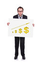 Placard with chart of profits Royalty Free Stock Images