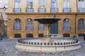 Place d albertas fountain in aix en provence france Royalty Free Stock Photography