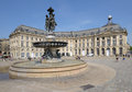 Place de la Bourse in Bordeaux, France Royalty Free Stock Photo