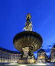 Place de la bourse in Bordeaux by night Stock Photos