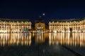 Place de la Bourse in the city of Bordeaux, France Royalty Free Stock Photo