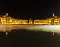 Place de la Bourse at Night, Bordeaux Royalty Free Stock Photo