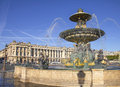 Place de la concorde paris france Royalty Free Stock Photo