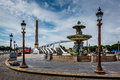 Place de la concorde on summer day in paris france Stock Image