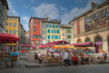 Place du Plot in Le Puy-en-Velay, Frankreich Lizenzfreie Stockfotos