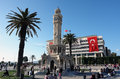 Place in izmir the square and clocktower turkey Stock Photography