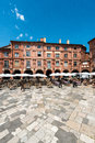 Place nationale in montauban france june square tarn et garonne midi pyrenees Stock Photography
