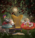 A place for reading midsummer night s dream series Royalty Free Stock Photography
