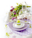 Place setting for Easter Stock Photos