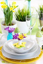 Place setting for Easter Royalty Free Stock Image
