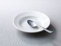 Place setting with empty plate Royalty Free Stock Images