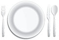 Place setting a modern on white Royalty Free Stock Images