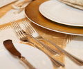 Place setting in a restaurant Royalty Free Stock Photo