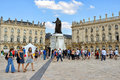 Place stanislas in center of nancy tourists arrive to restored historical on july this square is world heritage sites Stock Image