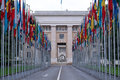 Place of United Nations in Geneva Royalty Free Stock Photo